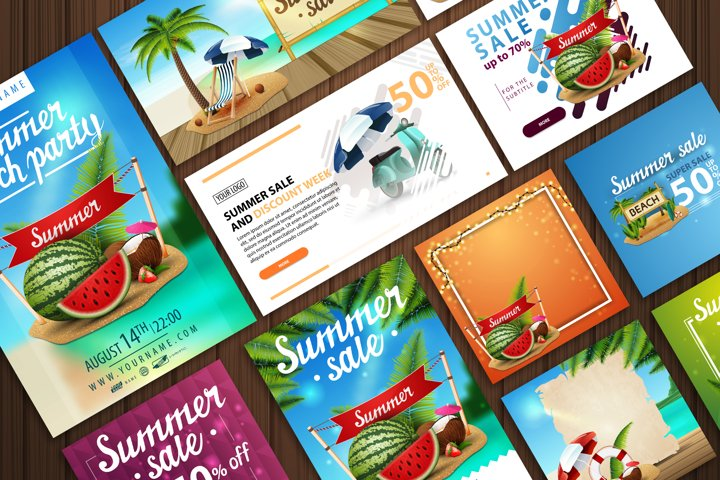 Summer templates for your business