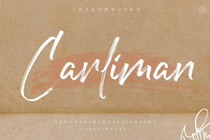 Carliman Handbrushed Calligraphy Font