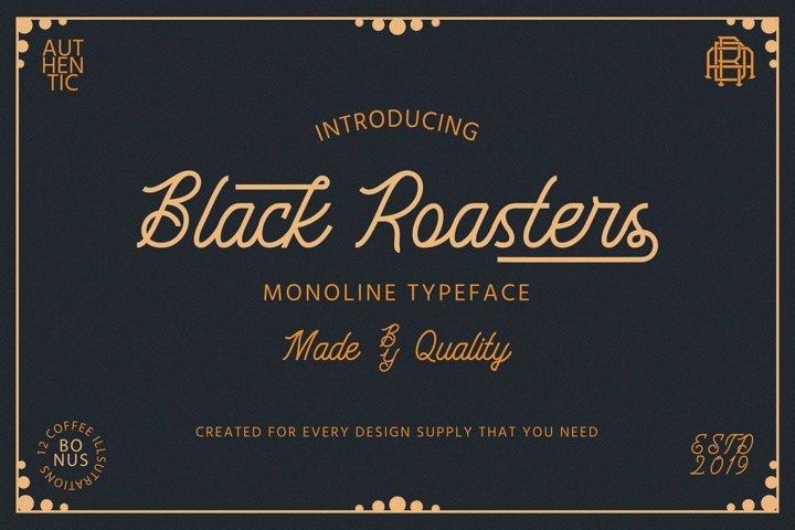 Black Roasters | Monoline Font