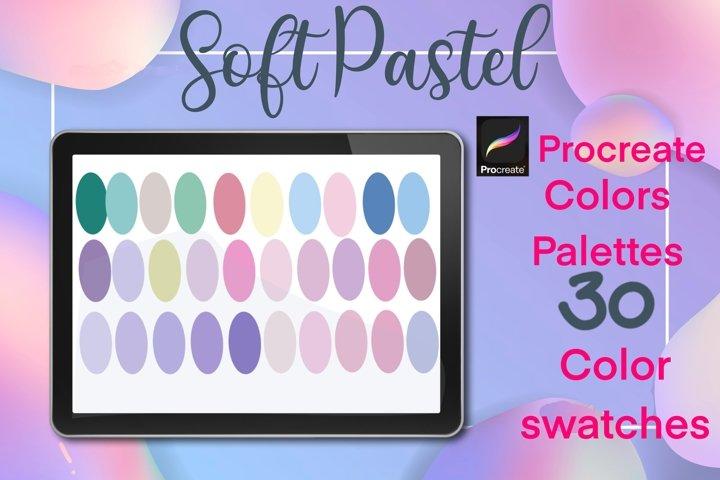 Procreate Soft pastel color palettes