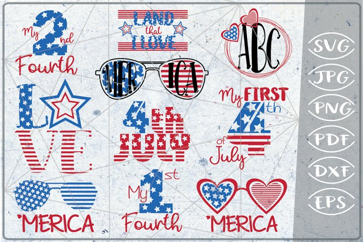 Patriotic Bundle 4th of July Independence Day Sublimation