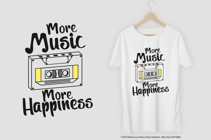 More Music More Happiness T-Shirt Design