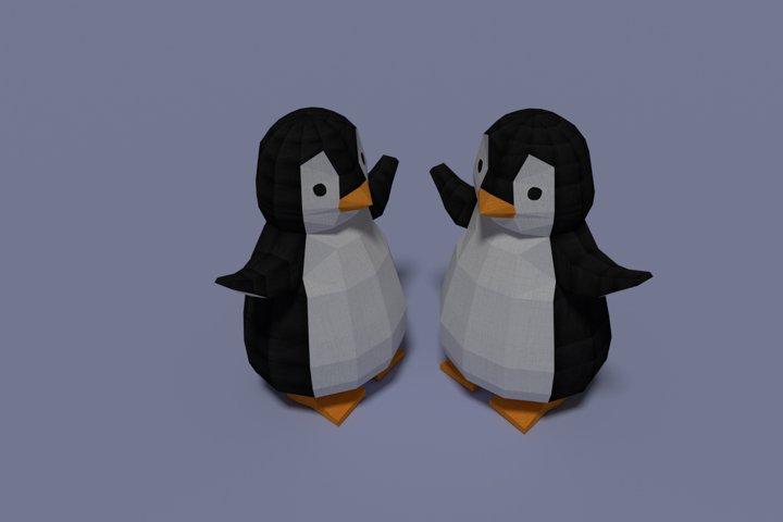 Penguin, Paper DIY Kit, 3D Papercraft Animal