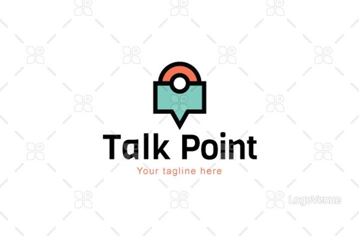 Talk point - Location & Communication Minimal Iconic Logo