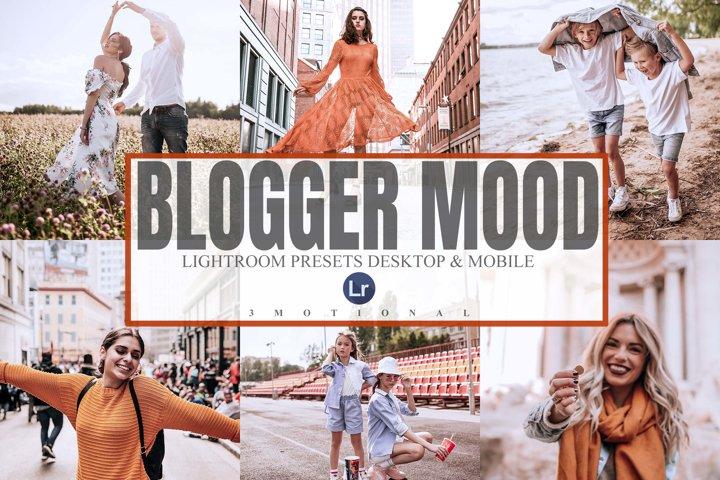 5 Blogger Mood Lightroom Desktop and Mobile Presets