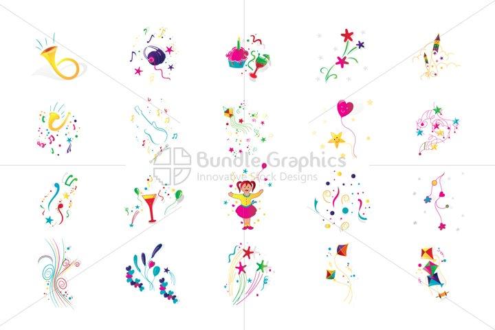 Party Celebration Decorative Elements