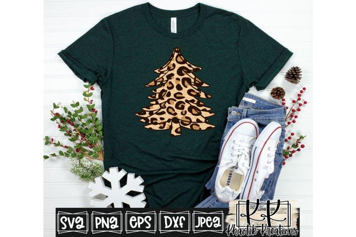 Leopard Christmas Tree Svg, Christmas Svg, Christmas Tree