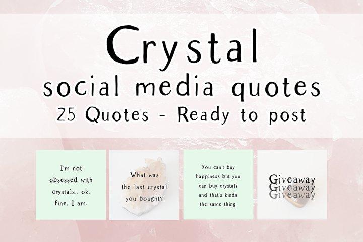 25 x Mint Crystal Social Media Quotes