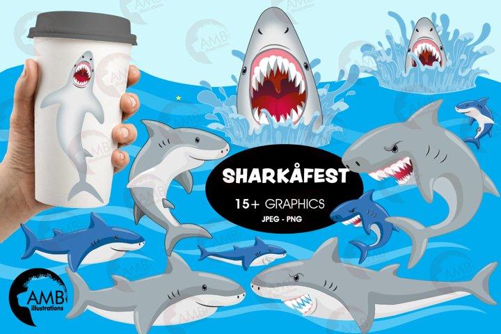 Shark clipart, sharkfest cliparts AMB-2832
