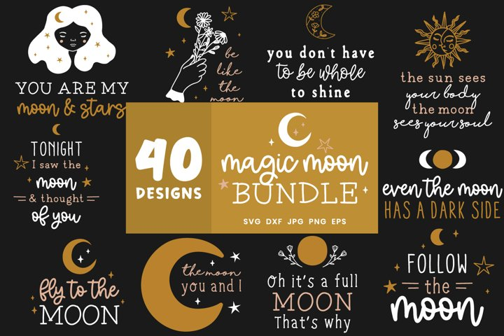 Moon Svg Bundle | Lunar Cycle Svg | Magic Svg Cut Files