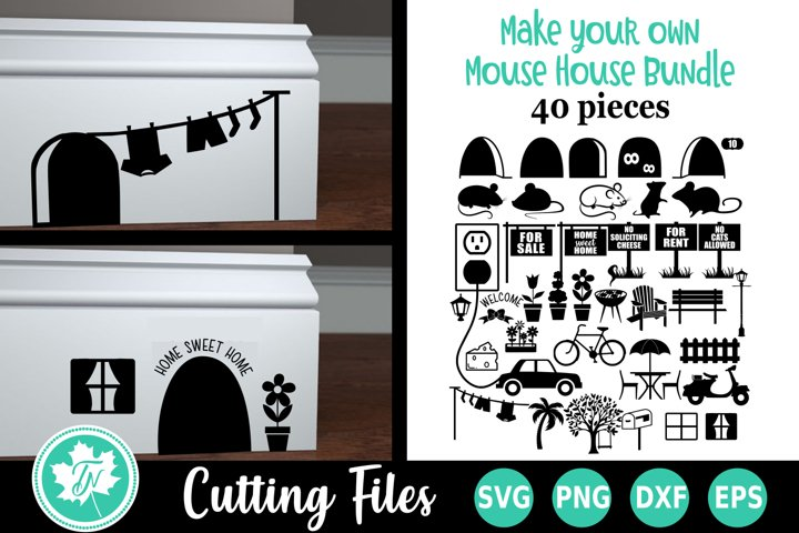 Create Your Own Mouse House SVG Cut File Bundle