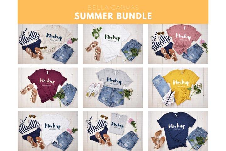 Summer Mockup Bundle, Tshirt Mock up Bundle, Summer
