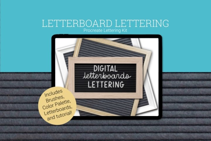 Digital Letterboard Procreate Lettering Kit and Tutorial