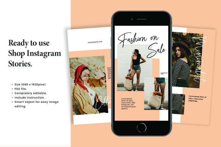 Biancha Fashion Instagram Stories Template