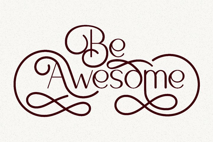 Be Awesome Lettering Quotes
