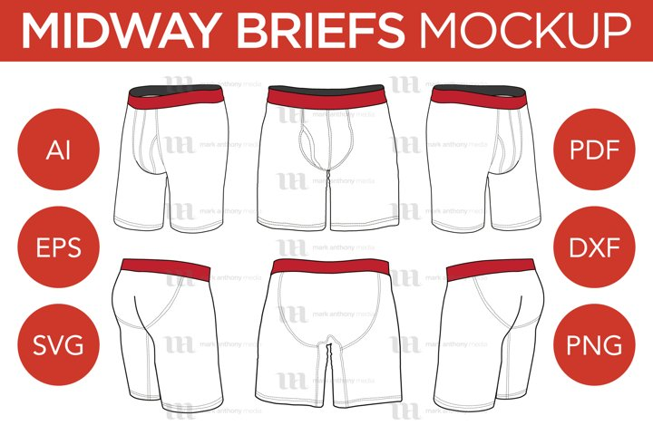 MIdway Briefs - Vector Template Mockup
