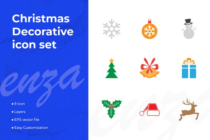 Christmas Decorative icon design set