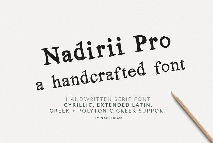 Nadirii Pro Font Greek, Cyrillic Font