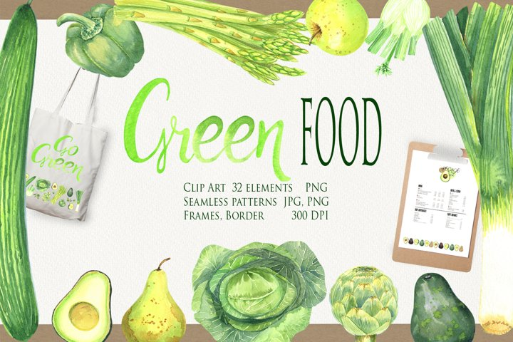 Green FOOD Clip Art