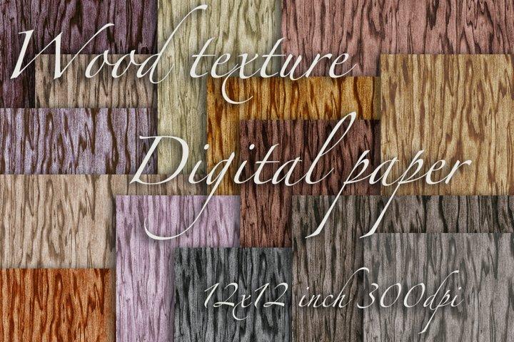 Seamless wood grain texture digital paper