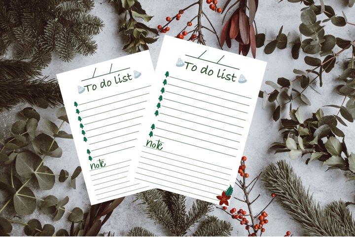 Christmas to do list planner