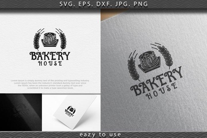 pancake, vintage bakery logo Ideas. Inspiration logo design.