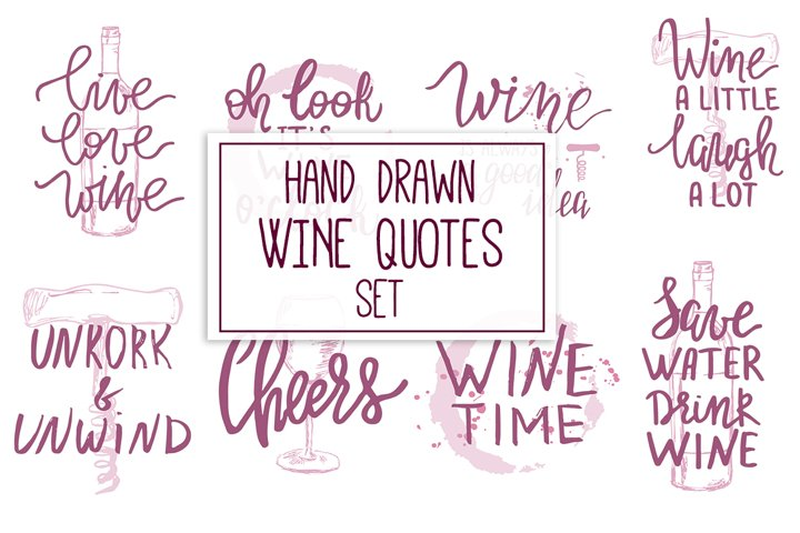 Hand Drawn Wine Quotes