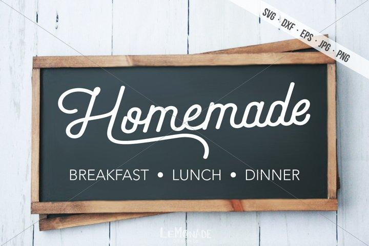 Homemade Cutting File Design, Breakfast Lunch Dinner SVG