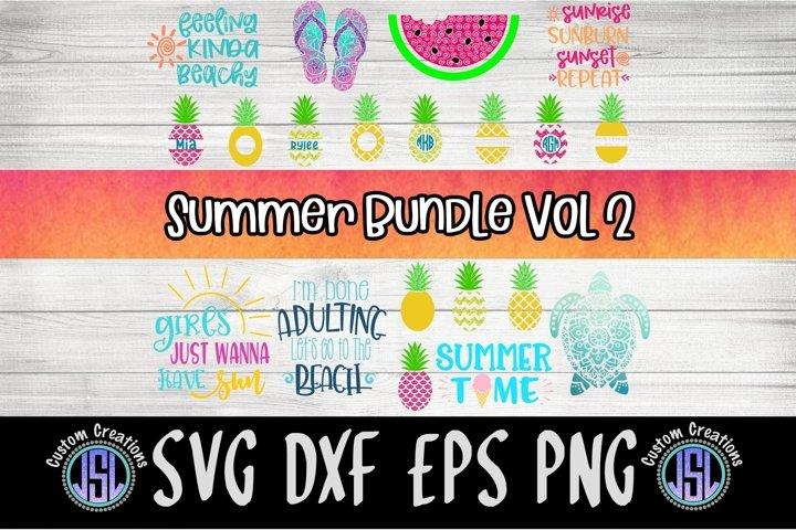 Summer Bundle Vol 2 | Set of 20 | SVG DXF EPS PNG