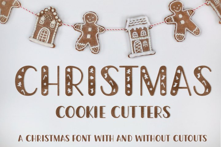 Christmas Cookie Cutters - A Christmas Font
