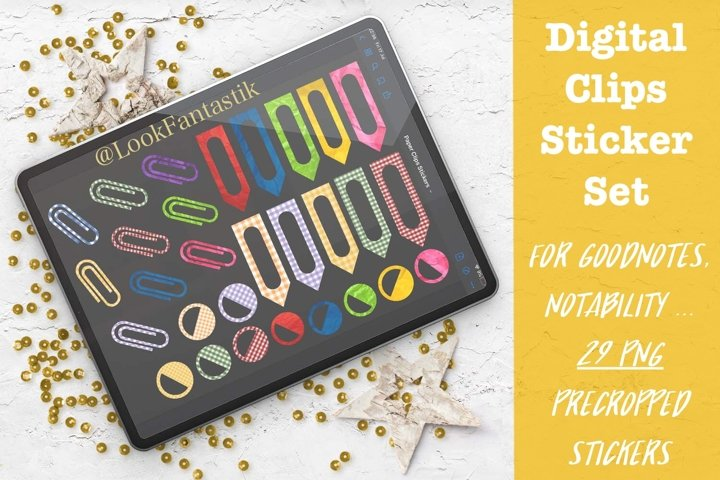 Paper Clips Digital Sticker Set For GoodNotes Planner