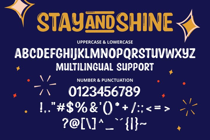 Stay and Shine - Free Font Of The Week Design1