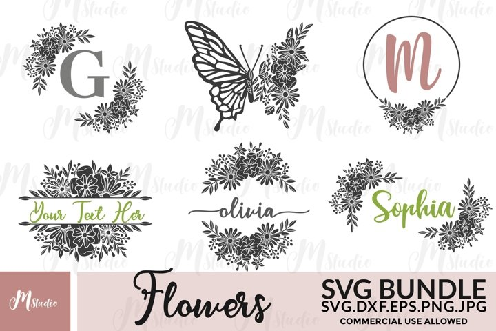 Flowers SVG Bundle. S6