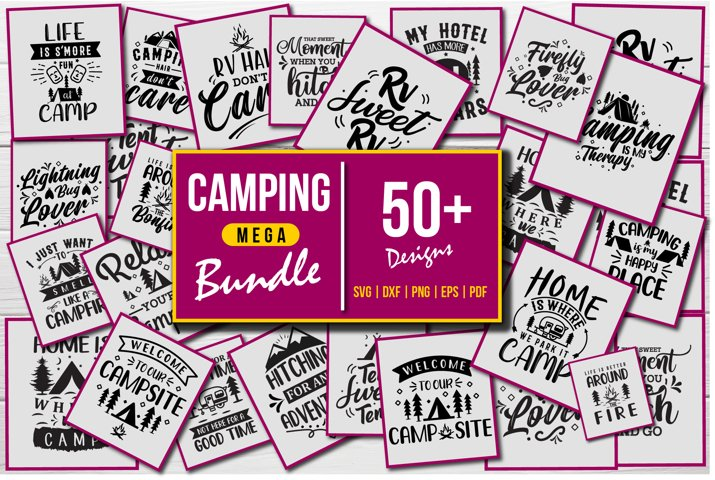 Camping SVG Mega Bundle
