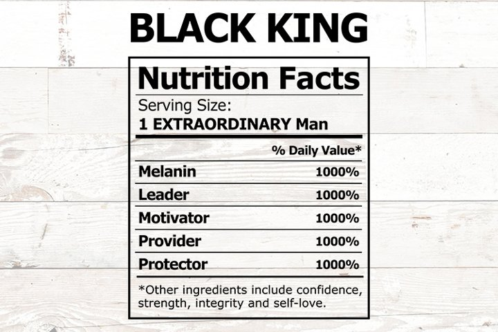 Black King Nutrition Facts African American