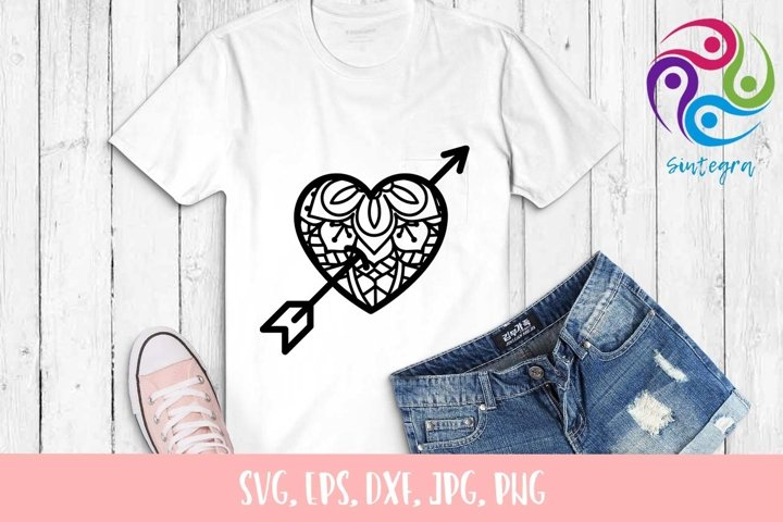 Zen Tangle Love Heart SVG File