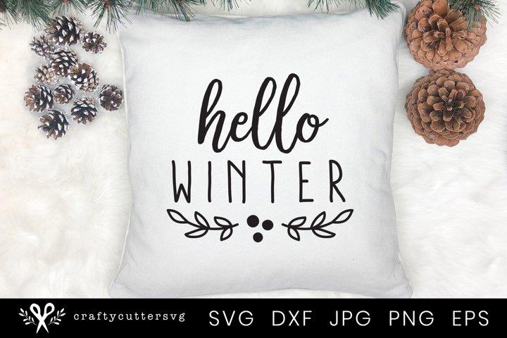Hello Winter Svg | Winter Quote Svg Cut File for Cricut