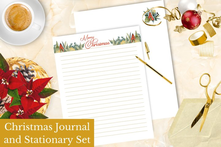 Christmas Journal, Stationary, and Letter Set