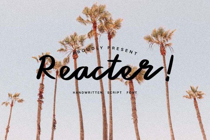 Reacter - Handwritten Script Font