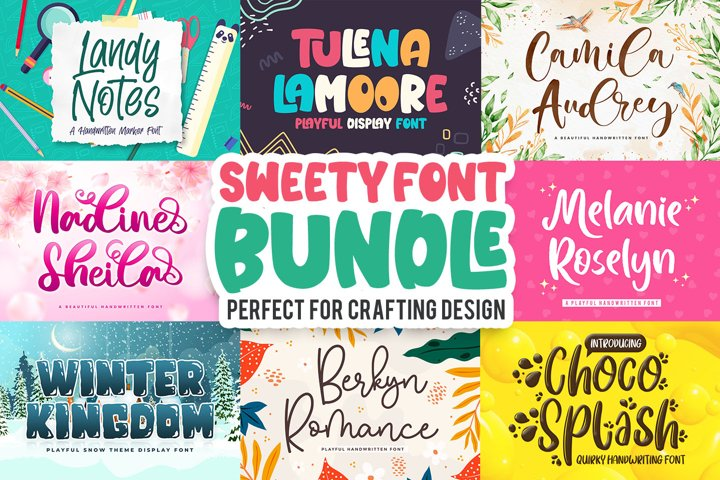 Sweety Font Bundle