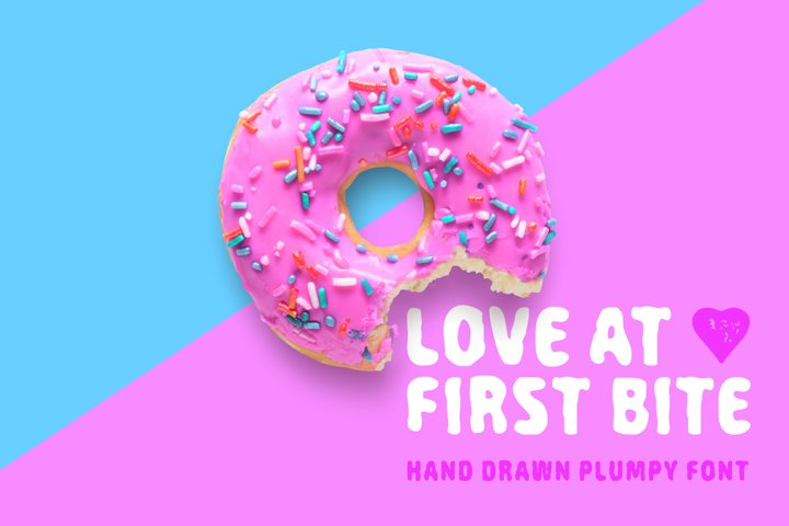 Love At First Bite - handcrafted sans serif font