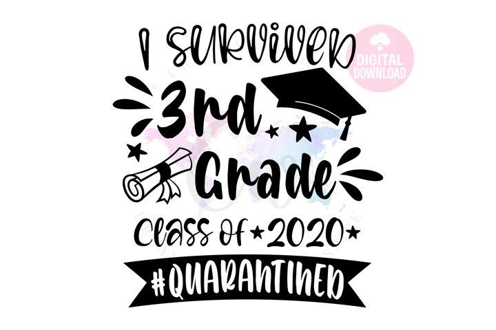 I Survived 3rd Grade 2020| School SVG | Quarantined SVG