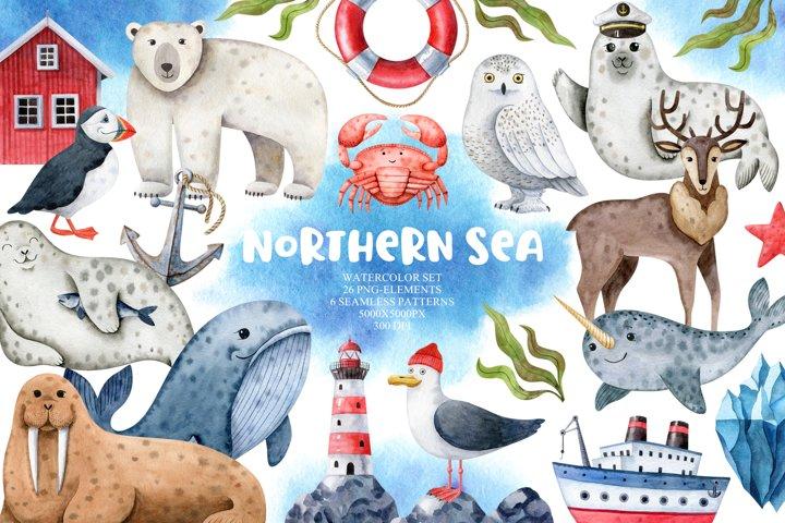 Northern Sea Watercolor Set