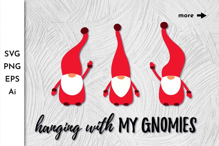 Gnomes Christmas. Gnome SVG. Gnome Bundle. Gnome Clipart