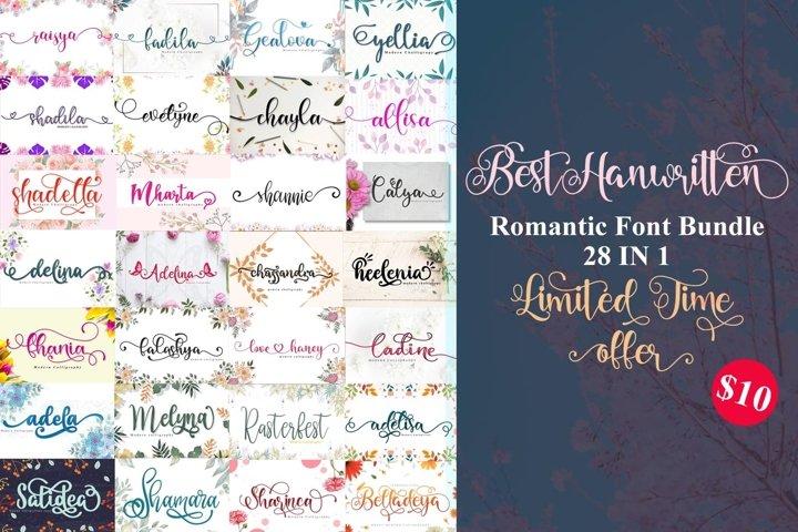 best collection sweet handwritten font