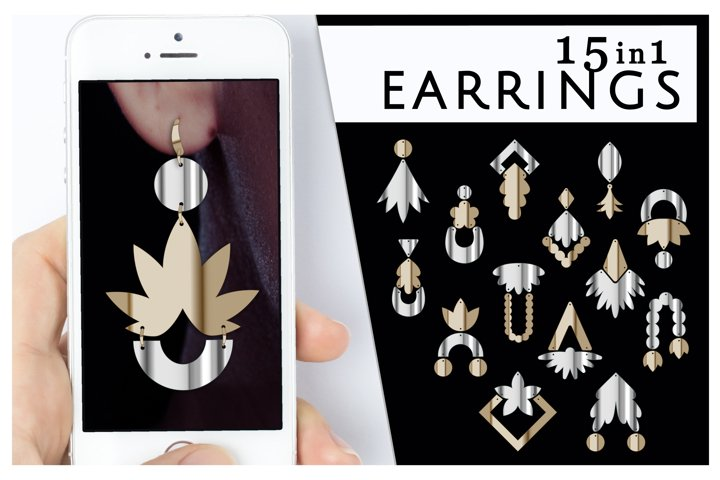 15 Cricut earring SVG nature Flower jewelry Fringe earrings