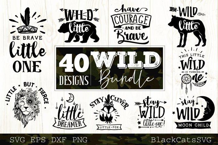 Wild SVG bundle 10 designs Wild Baby SVG bundle vol 3