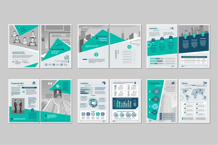 Brochure template concept creative design.