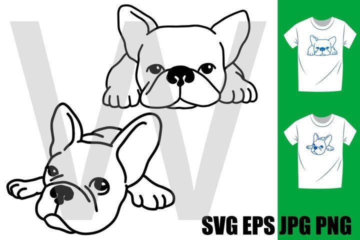 French Bulldog Sleeping Set - PNG SVG EPS PNG