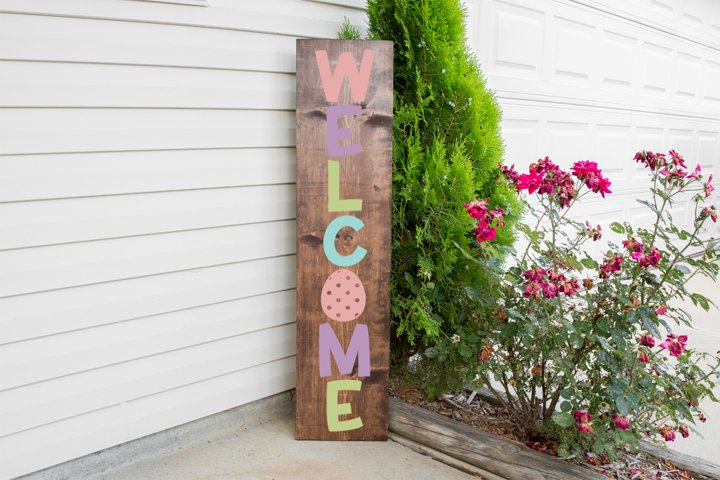Welcome Easter Sign - Front Porch Sign example 1
